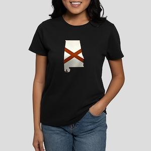 Alabama Flag Women's Dark T-Shirt