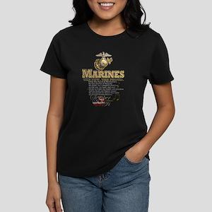 Stanza 1 - Marines' Hymn Women's Dark T-Shirt