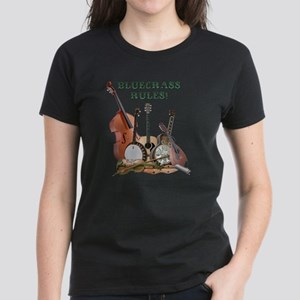 DAmbrosioArts_BluegrassRules_ Women's Dark T-Shirt
