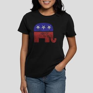 2-RepublicanLogoTexturedGreyB Women's Dark T-Shirt