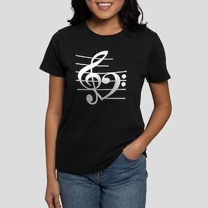 Music heart Women's Dark T-Shirt