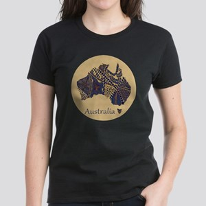 Decorative Australia Map Souv Women's Dark T-Shirt