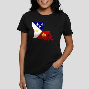 Acadiana State of Louisiana Women's Dark T-Shirt