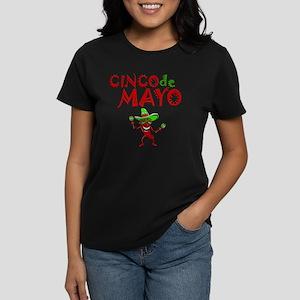 cinco de mayo 1 pepper Women's Dark T-Shirt