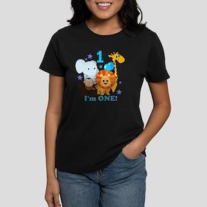 baby1JungleAnimals Women's Dark T-Shirt