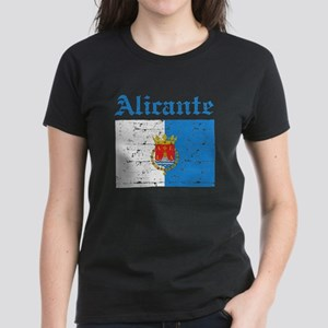 Alicante flag designs Women's Dark T-Shirt