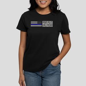 Police: Proud Wife (Black Flag Blue Line) T-Shirt
