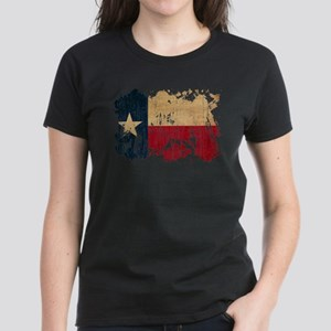 Texas Flag Women's Dark T-Shirt