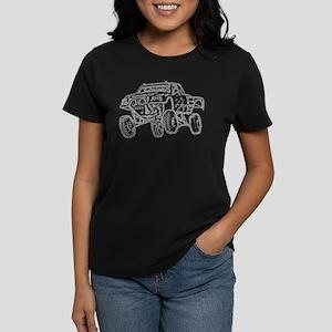 Off-Road Race Truck Grey Women's Dark T-Shirt