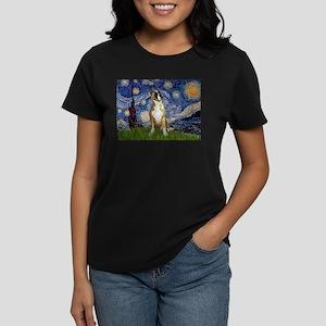 Starry Night & Boxer Women's Dark T-Shirt