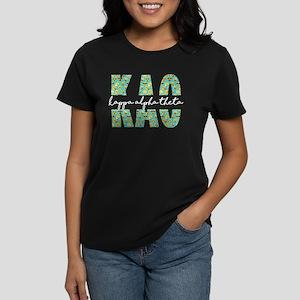 Kappa Alpha Theta Letters Emo Women's Dark T-Shirt