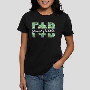 Gamma Phi Beta Letters Emoji Women's Dark T-Shirt