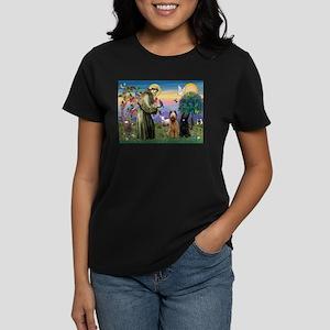 St Francis & Briard Pair Women's Dark T-Shirt