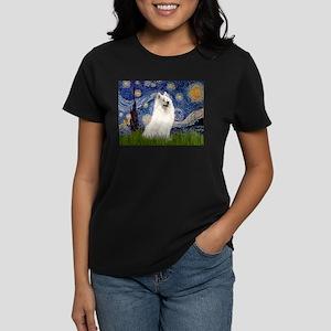 Starry / Samoyed Women's Dark T-Shirt