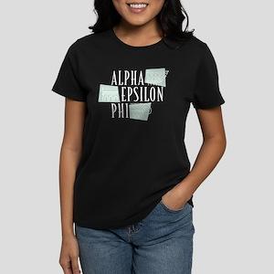 Alpha Epsilon Phi Logo Women's Dark T-Shirt