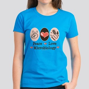 Peace Love Microbiology Women's Dark T-Shirt