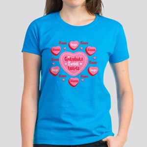 Grandma's Sweethearts Personalized Women's Dark T-