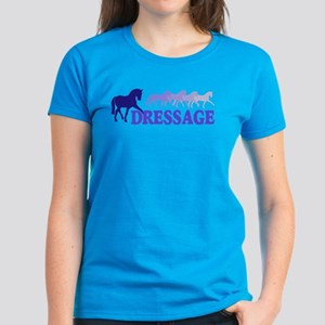 Dressage Horses (blue/purple) Women's Dark T-Shirt