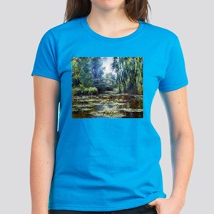 Monet Bridge Over Water Lily Pond Women's Dark T-S