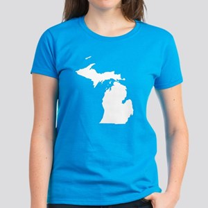 Michigan Map Women's Dark T-Shirt