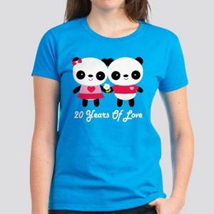 dea31031d 24th Anniversary Panda Couple Women's Dark T-Shirt