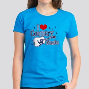 I Love Country Music Women's Dark T-Shirt