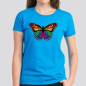 Rainbow Butterfly Women's Dark T-Shirt