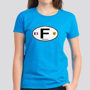 France Euro Oval Women's Dark T-Shirt