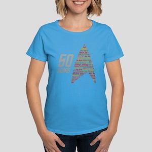 50 Years Captain Names Women's Dark T-Shirt