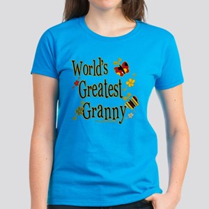 Granny Butterflies Women's Dark T-Shirt