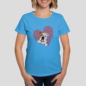 English Bulldog Lover Women's Dark T-Shirt