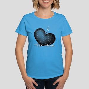 I Heart Tar Heels Women's Dark T-Shirt