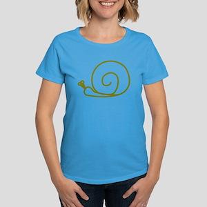 Green Snail Women's Dark T-Shirt