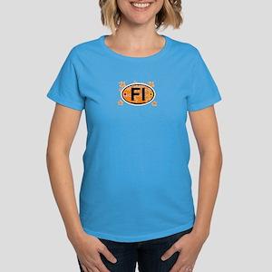 Fire Island - Oval Design Women's Dark T-Shirt