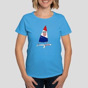 Croatia Dinghy Sailing Women's Dark T-Shirt