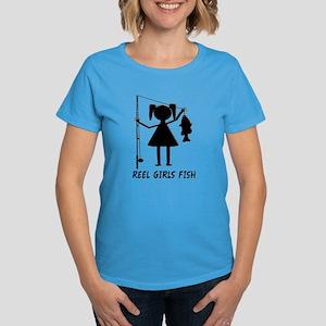 Reel Girls Fish Women's Dark T-Shirt