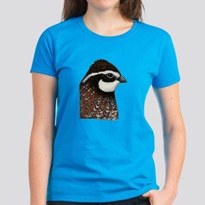 Bobwhite Quail Head Women's Dark T-Shirt