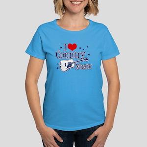 I Love Country Music Women's Dark T-Shirt