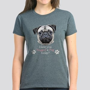 Pug Hug Women's Dark T-Shirt