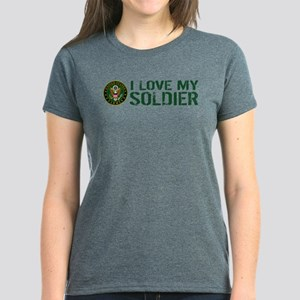 U.S. Army: I Love My Soldier Women's Dark T-Shirt