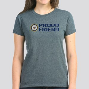 U.S. Navy: Proud Friend (Blue Women's Dark T-Shirt
