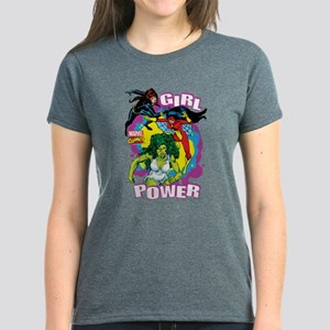 Marvel Comics Girl Power Women's Dark T-Shirt