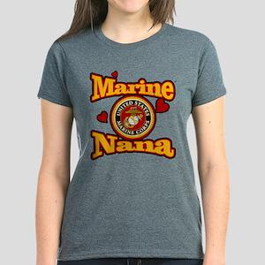 Marine Nana (USMC Seal) Women's Dark T-Shirt