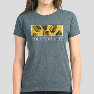 Alpha Omicron Pi Pineapples P Women's Dark T-Shirt