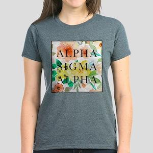 Alpha Sigma Alpha Floral Women's Dark T-Shirt