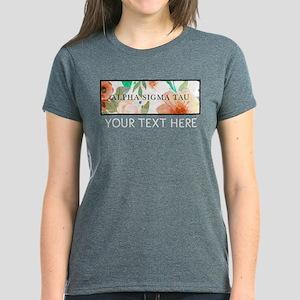 Alpha Sigma Tau Floral Person Women's Dark T-Shirt
