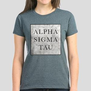 Alpha Sigma Tau Marble Women's Dark T-Shirt