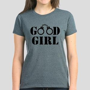 Good Girl Cuffs Women's Dark T-Shirt