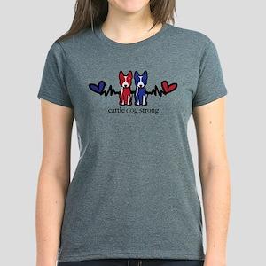 Cattle Dog Strong Women's Dark T-Shirt