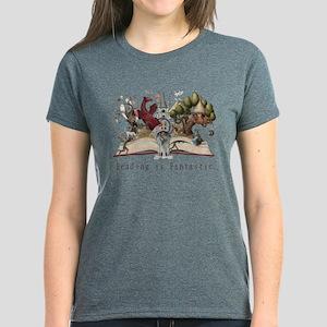 Reading is Fantastic II Women's Dark T-Shirt